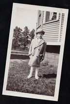Antique Vintage Photograph Adorable Little Girl Wearing Oversized Coat &... - $6.93