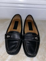 COACH Black Leather Samara Driving Moccasins Loafers Size 5.5M - $22.76
