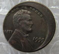 1955 DD DVB OF SET/ERROR Lincoln Wheat Cent Penny Souvenir Fantasy FREE ... - $13.99