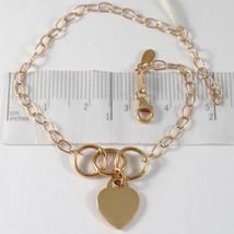 Armband aus Gold Pink 750 18k mit Herz Anhänger Schlossdrücker, , 18.5 c... - $328.24