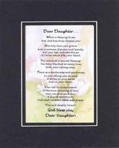 Touching and Heartfelt Poem for Daughters - Dear Daughter Poem on 11 x 1... - $15.79