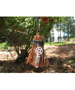 Haunted Witches Broom Amulet FREE with 100.00 purchase rid negativity - $0.00