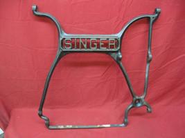 Vintage Cast Iron Singer Treadle Sewing Machine Center Rail Support Art  - $49.49