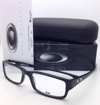 New OAKLEY Eyeglasses SERVO OX 1066-0153 53-18 Polished Black Rectangular Frame