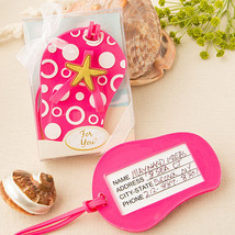 1 Pink Beach Themed Flip Flop Luggage Tag Wedding Favor Sandal Summer Gi... - $5.92