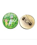 Rare New Big Pin Rick and Morty Portal Gun Metal Glass Hat Lapel Brooch ... - $10.99