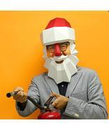 Creative Santa Claus Mask DIY Live Performance Props Christmas Party - $18.99