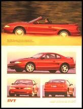 1996 Ford Mustang Cobra Svt Sales Brochure, Original - $12.81