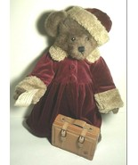 """Boyds Bears """"Lara w/ Suitcase"""" 18"""" Bear- QVC EXCLUSIVE - LE- 1997- Retired - $79.99"""