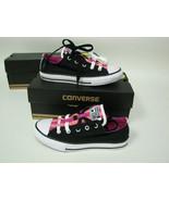 Converse All Star Loopholes Ox GS Black/Plastic Pink/Daybreak 651742F Ki... - $35.88
