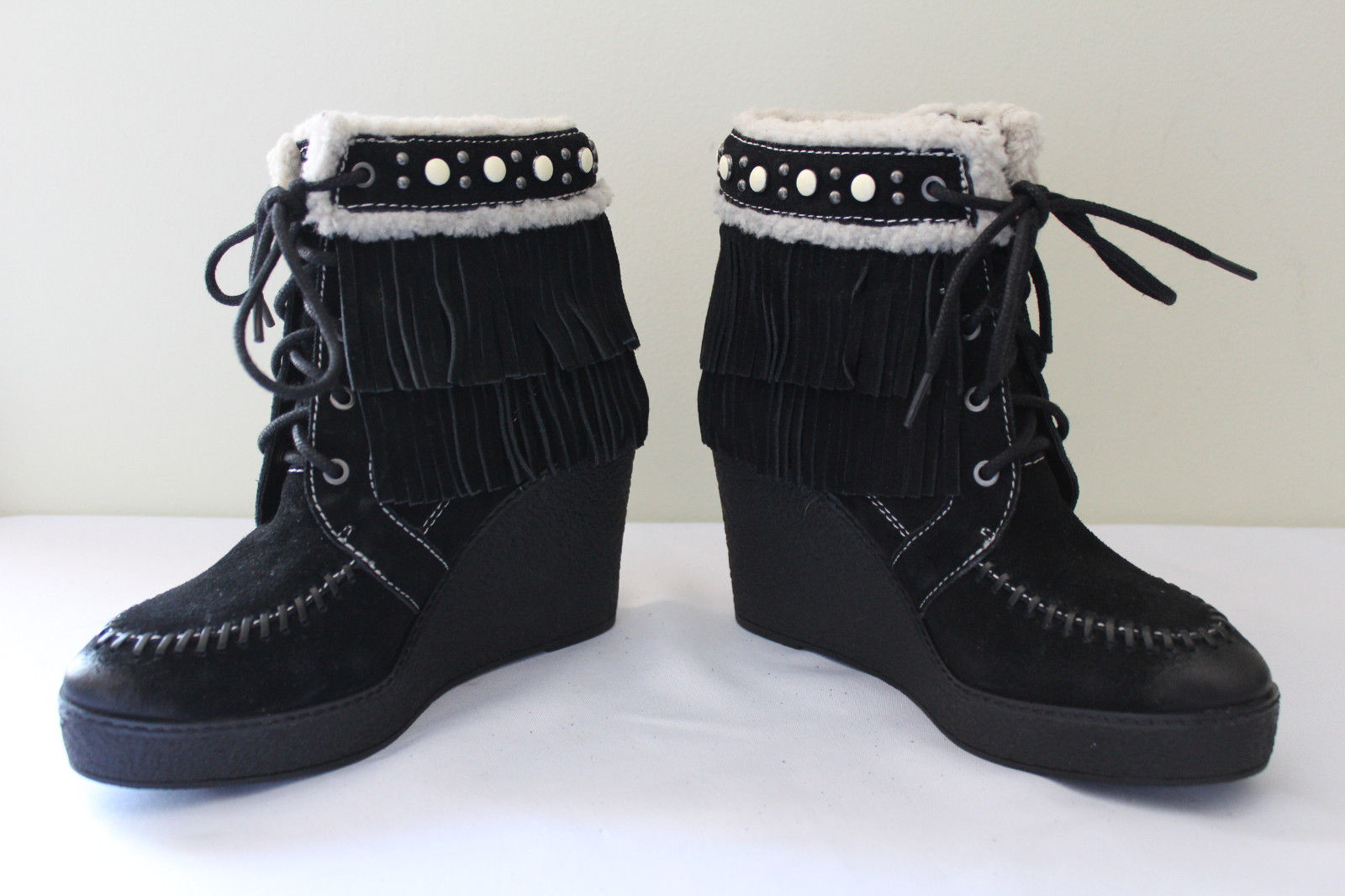 282afad7aa63 Sam Edelman Black Suede Leather Fringe and 27 similar items. S l1600