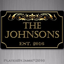 "Custom Family Name Year Established 8"" x 12"" Aluminum Sign Plaque w holes - €13,84 EUR"
