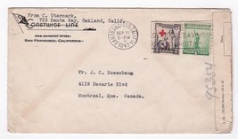 COASTWISE LINE SAN FRANCISCO CA SEPT. 11 1942 MAILED TO MONTREAL CANADA - $2.98