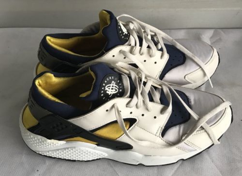 713dccb28714 2003 NIKE AIR HUARACHE Michigan State Navy White-yellow Sneakers Shoes Sz 13