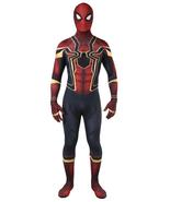Kids Spiderman Spandex Cosplay Costumes Zentai Halloween Iron Spider Suit - $49.99