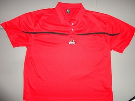 Red Starter Louisville Cardinals Polyester Embroidered Polo Shirt 2XL NCAA EXCEL - $29.69