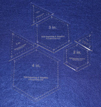 """6 Piece Quilt Equilateral Triangles & Hexagon Set - 1/8"""" Acrylic - $26.95"""