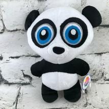 NANCO Panda Bear Plush Black & White Cute Stuffed Animal Carnival Prize Toy Tags - $9.89