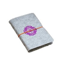 "Wool Felt Cover Family Travel Diary / Journal planner / Notebook-7""X5""-A... - $19.91"