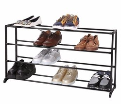 Shoe Rack Storage Organizer 4Tiers Portable Wardrobe Closet Bench Tower ... - $25.73