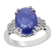 8 Carat Tanzanite Solid Gemstone 925 Sterling Silver Ring Jewelry Sz-8 S... - £27.13 GBP