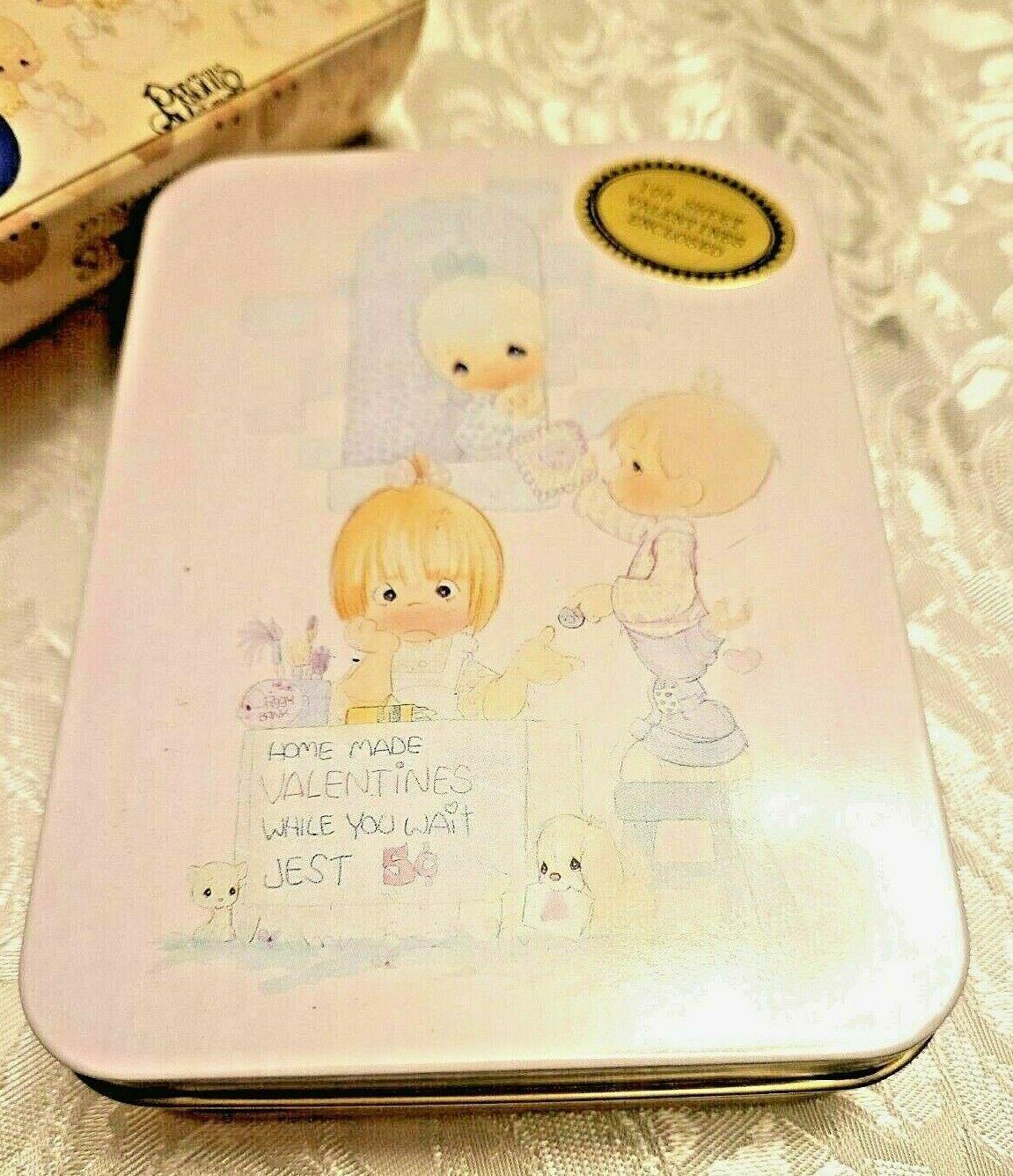 "Precious Moments Blank Note Card Valentines From the Heart"" & Keepsake Tin Box"
