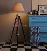 NauticalMart Royal Designer Natural Wood Tripod Floor Lamp - Home Decor - $199.00