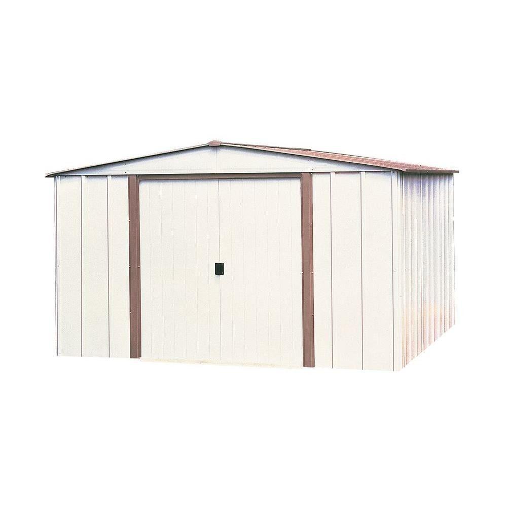 Storage Storage Building Metal Barn 10 x 8 Lockable Double Door Outdoor Garden