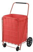110lbs Portable Folding Rolling Cart Hand Truck Trolley Shopping Wheel B... - $80.48