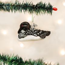 OLD WORLD CHRISTMAS LOON BIRD GLASS CHRISTMAS ORNAMENT 16056 - $12.88