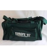 Medium Green Duffle Bag Vinyl 4 Compartments Europe '97 Van Diest Supply... - $11.87