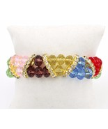 High Quality Glass Crystal Stretch Bracelet Multi Color GORGEOUS - $29.69