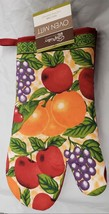 "Jumbo Printed Kitchen Oven Mitt (13"") BRIGHT FRUITS with red back by CV - $7.91"