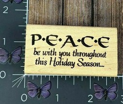 Hampton Art Stamps Peace Be With You Holiday Season Rubber Stamp 1997 #A... - $4.46