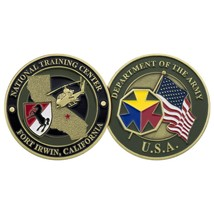 "ARMY FORT IRWIN NATIONAL TRAINING CENTER 1.75"" CHALLENGE COIN - $16.24"