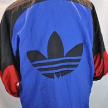 Womens Adidas Track Jacket Light Coat Large Trefoil On Back Full Zip - $49.50