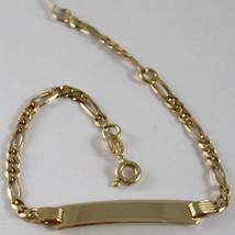 Armband Gelbgold 750 18K mit Platte Zentrale für Gravur, Schlossdrücker, - $387.33