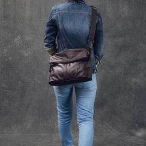 Sale, Full Grain Leather Men Shoulder Bag, Stylish Men Messenger Bag, Laptop Bag image 5