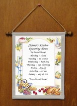 Kitchen Operating Hours - Personalized Wall Hanging (936-1) - $19.99