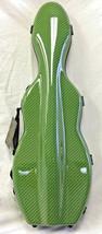 Tonareli Cello shaped Green Checkered Carbon-look Violin Case - 4/4 prot... - $265.00