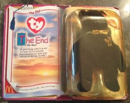 TY McDonald's Teenie Beanie - THE END Bear (2000 - Last Day) - $4.89