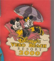 Mickey and Minnie Mouse Disney's Vero Beach Resort - 2000 AUTHENTIC WDW Pin - $9.99