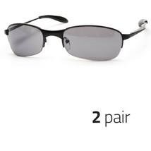 2 Pc Xloop Sunglasses Metal Frame Mirrored Revo Lens Sports Shades Sunnies Black - $13.99