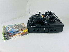 Microsoft Xbox Original Bundle - Console, Controller, Cables, 5 Game Lot Tested  - $108.89