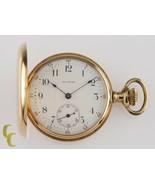 Waltham Seaside 14k Yellow Gold Full Hunter Pocket Watch 6S 7J 1901 - $1,039.47