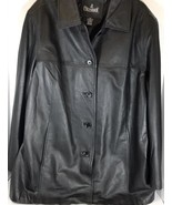Leather Coat Black Colebrook Womans Jacket Coat Sz XL - $59.39