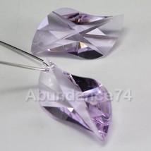 1pc Retired Swarovski Strass LOGO SWING Crystal Pendant Prism 8051 30mm ... - $7.80