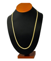 Hip Hop 14K Gold Plated Mens Flat Herringbone Chain Necklace 5mm Long 36... - $8.59