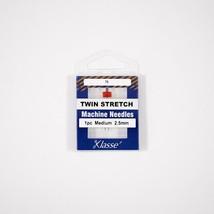 Klasse Twin Stretch 2.5mm/75, 1 Needle-Bundle of 5 - $12.86