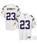 NEW REEBOK MINNESOTA VIKINGS MICHAEL BENNETT #23 JERSEY ON field M MEDIUM WHITE - $37.39
